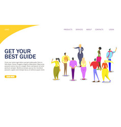 Tour guide website landing page design vector