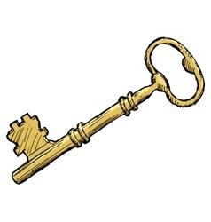 vintage key vector image