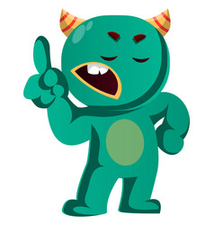 Wait a minute green monster is gesturing vector