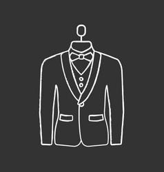 Wedding tuxedo chalk icon vector