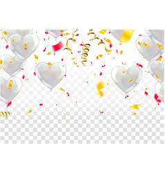 white background with white balloons glossy vector image