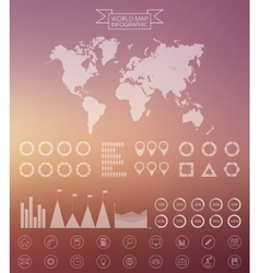 World map and infographics design template vector
