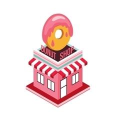 Donut shop Modern isometric flat design style Food vector image vector image