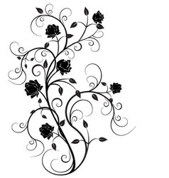 Flourishes in black 6 vector image