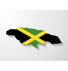 Jamaica country map with shadow effect vector image vector image