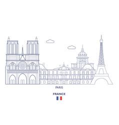 paris city skyline vector image