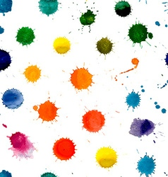 Watercolor splashes pattern vector