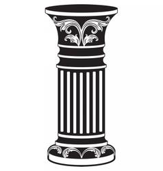 Architectural decorative column vector image