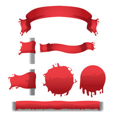 blood red splash banner border vector image