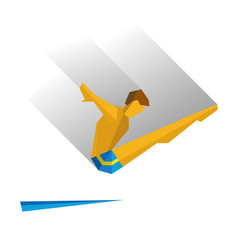 diver jumping from a springboard vector image vector image