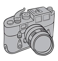 hand drawn camera vector image