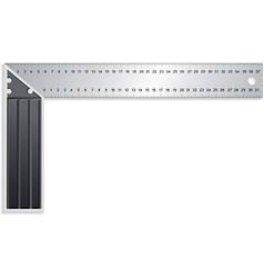 metal ruler vector image