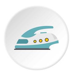 modern electric iron icon circle vector image