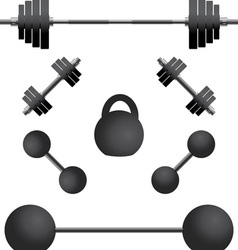 set of weights third variant vector image