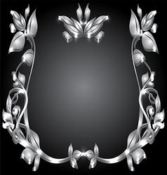 silver monogram vector image vector image