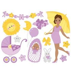 African American Baby Set vector image