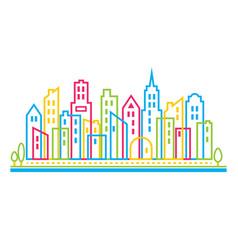 city skyscraper vector image vector image