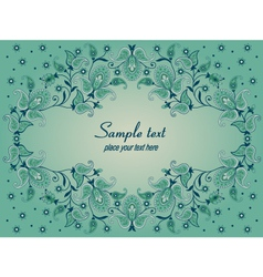 Decorative background with paisley vector image vector image