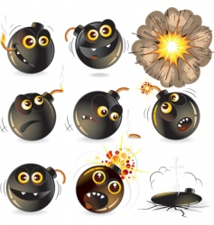 funny bomb vector image vector image