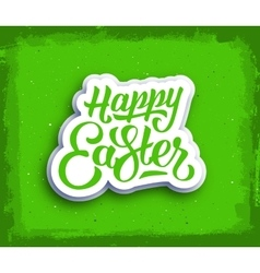 Happy Easter hand lettering text vector image vector image
