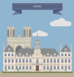 Reims vector image vector image