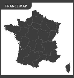 the detailed map of the france with regions vector image vector image