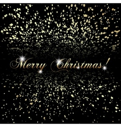 abstract Merry Christmas or New Year golden vector image vector image