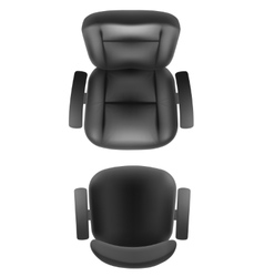 Office chair and boss armchair top view vector image