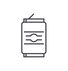 soda can line icon sign on vector image