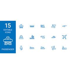 15 passenger icons vector
