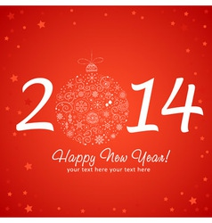2014 Happy New Year greeting card vector