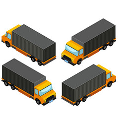 3d design for yellow lorry truck vector image