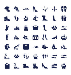 49 foot icons vector