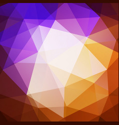 abstract colorful geometric triangular background vector image