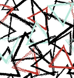 Abstract seamless pattern with grunge triangles vector