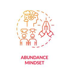 Abundance mindset concept icon vector