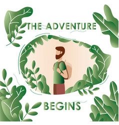 Adventure travel vacation tourism on nature vector
