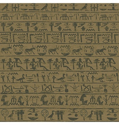Ancient wall with Egyptian hieroglyphs grunge vector image