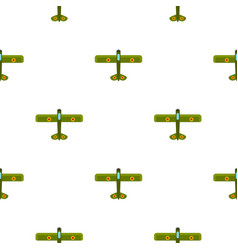 Army biplane pattern flat vector