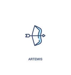 Artemis concept 2 colored icon simple line vector