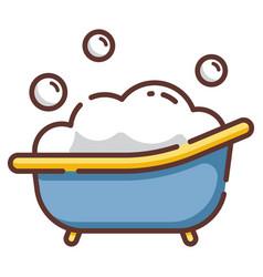 Baby tub linecolor vector