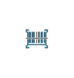 barcode icon line design business icon vector image