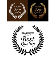 best quality guaranteed label or emblem vector image