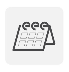 calendar icon black vector image
