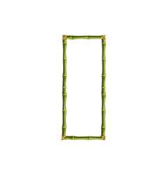 capital letter o made of green bamboo poles on vector image
