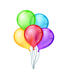 Celebratory balloons on isolated vector