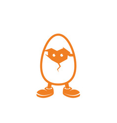 Chicken in the egg vector