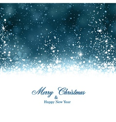 Christmas dark blue abstract background vector image