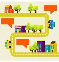 cityscape info graphics charts vector image