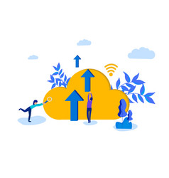 cloud computing modern vector image